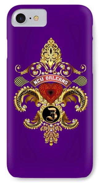 Z-fleur-de-lis New Orleans Transparent Back Pick Color IPhone Case