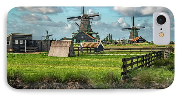 Zaanse Schans And Farm Phone Case by James Udall