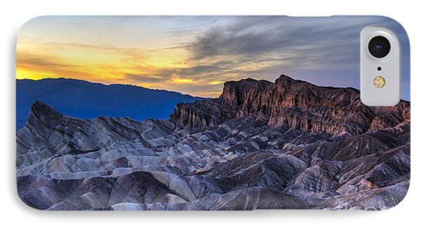 Zabriskie Point Sunset IPhone Case by Charles Dobbs