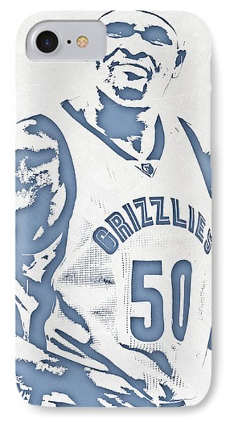 Zach Randolph Memphis Grizzlies Pixel Art IPhone Case