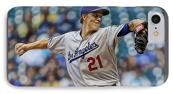 Zack Greinke Los Angeles Dodgers IPhone Case by Marvin Blaine