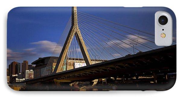 Zakim Bridge And Boston Garden At Sunset IPhone Case by Rick Berk