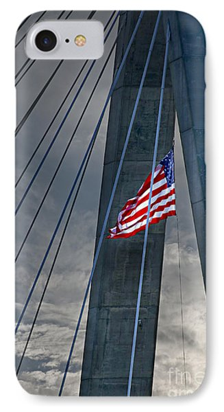 Zakim Bridge Boston IPhone Case by Elena Elisseeva