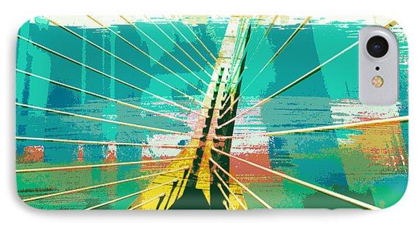 Zakim Bridge Boston V1 IPhone Case by Brandi Fitzgerald