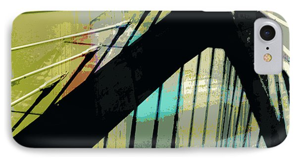 Zakim Bridge Boston V2 IPhone Case by Brandi Fitzgerald
