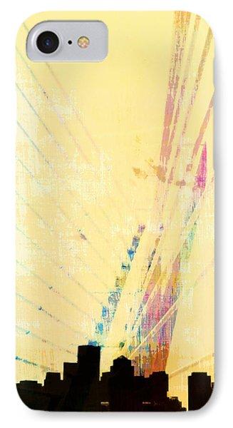 Zakim Bridge Boston V3 IPhone Case by Brandi Fitzgerald
