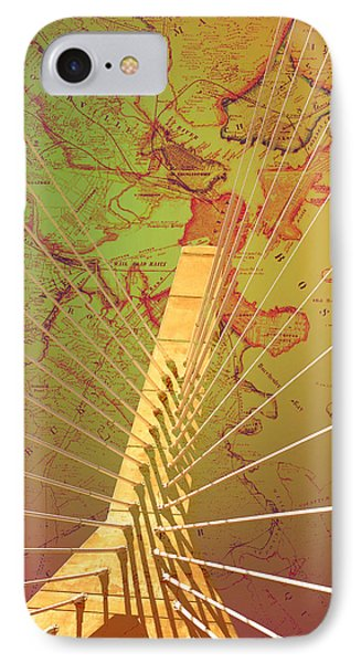 Zakim Bridge Boston V7 IPhone Case by Brandi Fitzgerald