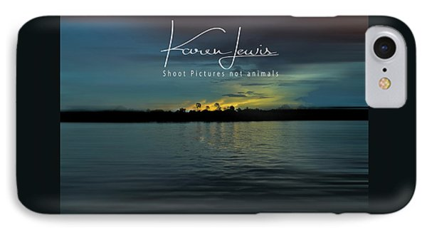IPhone Case featuring the photograph Zambezi Sunset by Karen Lewis