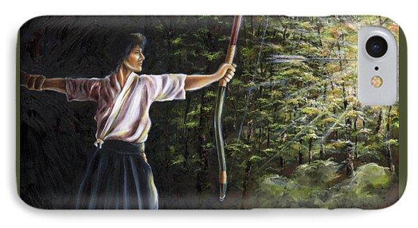 IPhone Case featuring the painting Zanshin by Hiroko Sakai