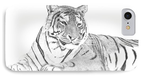 Zarina A Siberian Tiger IPhone Case by Patricia Hiltz