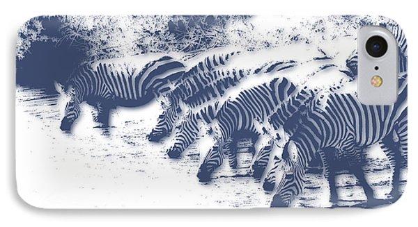 Zebra 3 IPhone 7 Case by Joe Hamilton