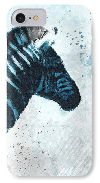 Zebra- Art By Linda Woods IPhone 7 Case by Linda Woods
