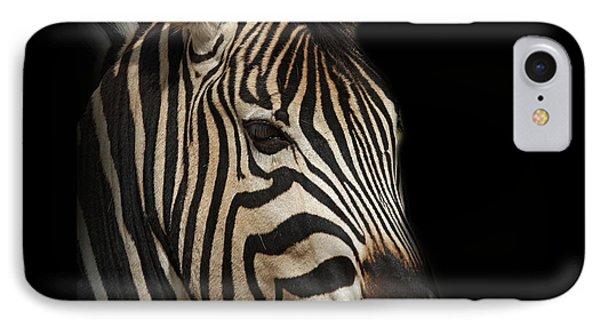 Zebra Phone Case by Barbara Dudzinska