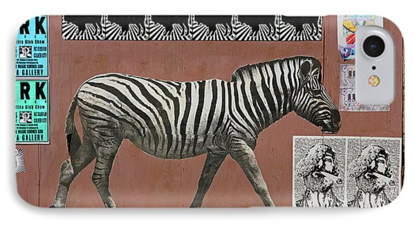 IPhone Case featuring the photograph Zebra Collage by Art Block Collections