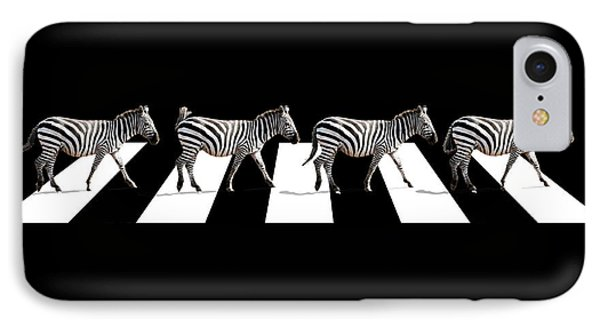 Zebra Crossing In Black And White IPhone Case by Gill Billington