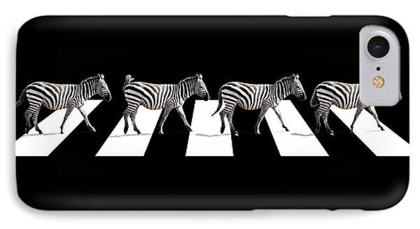 Zebra Crossing In Black And White IPhone Case