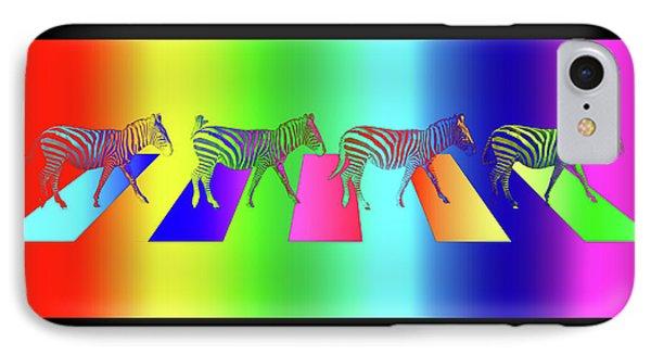 Zebra Crossing Pop Art IPhone Case by Gill Billington