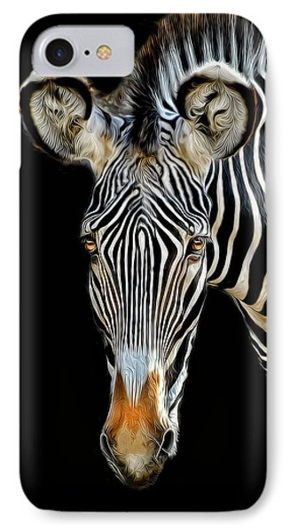 IPhone Case featuring the photograph Zebra by Dave Mills