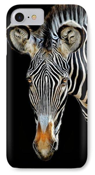 Zebra IPhone Case by Dave Mills