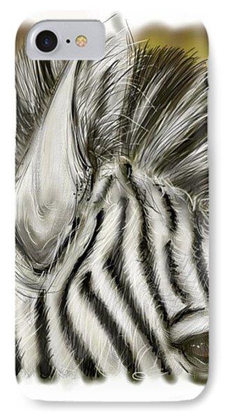 IPhone Case featuring the digital art Zebra Digital by Darren Cannell