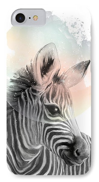 Zebra // Dreaming IPhone Case by Amy Hamilton