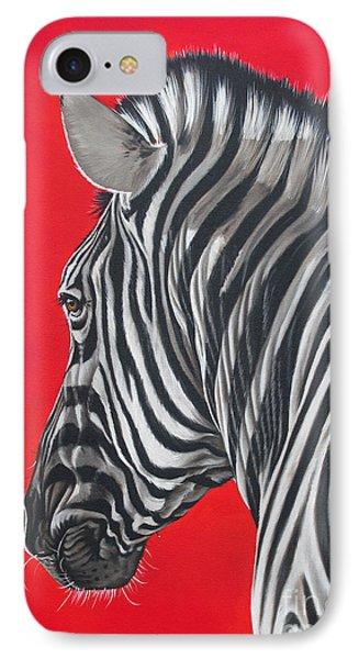 zebra in African sun Phone Case by Ilse Kleyn