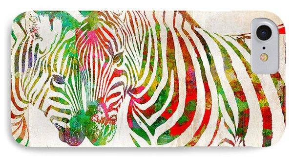 Zebra Lovin Phone Case by Nikki Smith