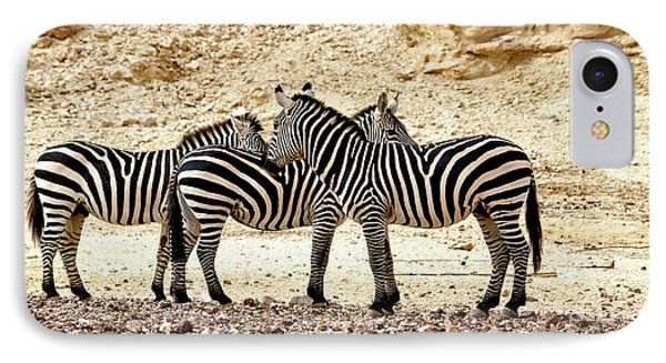 IPhone Case featuring the photograph Zebra Mix by Arik Baltinester