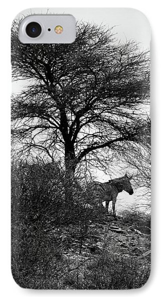 IPhone Case featuring the photograph Zebra On A Hill  by Ernie Echols