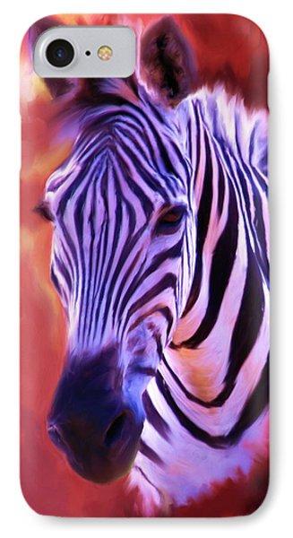Zebra Portrait IPhone Case by Jai Johnson