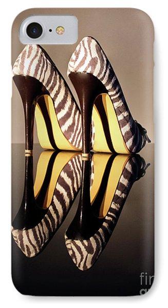 Zebra Print Stiletto Phone Case by Terri Waters