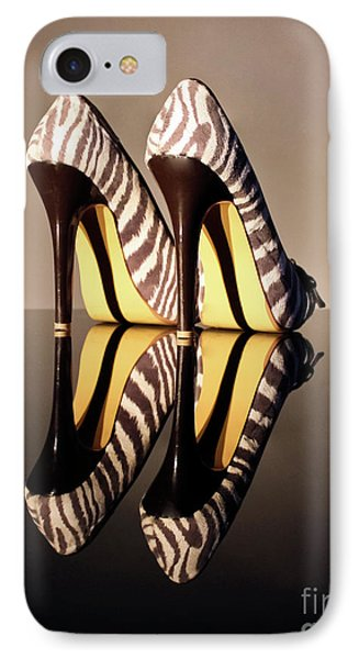 IPhone Case featuring the photograph Zebra Print Stiletto by Terri Waters