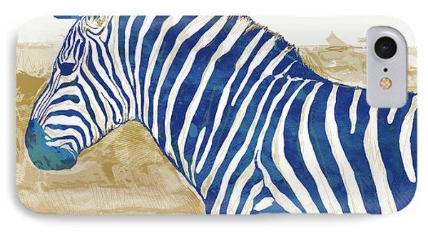 Zebra - Stylised Pop Art Poster IPhone 7 Case