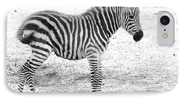 IPhone Case featuring the photograph Zebra White And Black Photography by David Mckinney