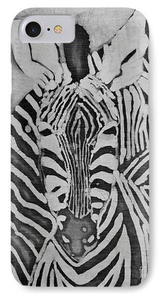 Zebras IPhone Case by Caroline Street