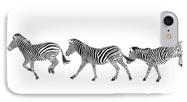 Zebras Dancing IPhone Case