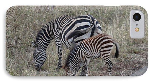 Zebras In Kenya 1 IPhone Case by Exploramum Exploramum