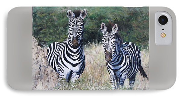 Zebras In South Africa IPhone Case