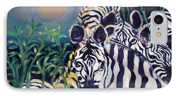 Zebras On The Savanna IPhone Case by Julie Todd-Cundiff