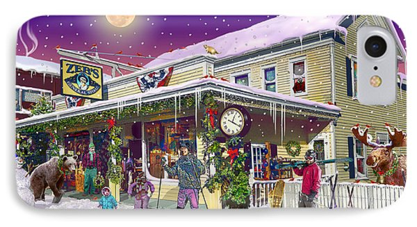 Zebs General Store In North Conway New Hampshire IPhone Case by Nancy Griswold
