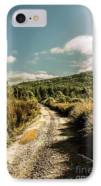 Zeehan Dirt Road Landscape IPhone Case by Jorgo Photography - Wall Art Gallery
