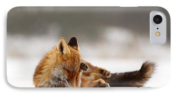 Zen Fox Series - Comfortably Fox IPhone Case by Roeselien Raimond