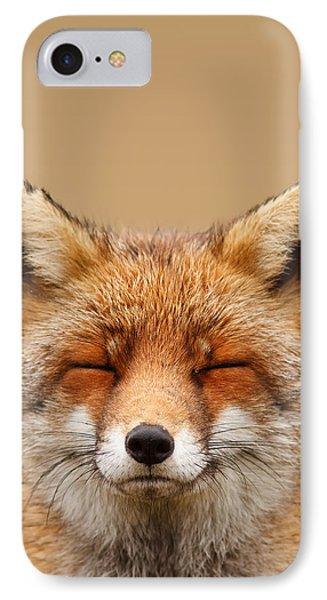 Zen Fox Series - Smiling Fox Portrait IPhone Case