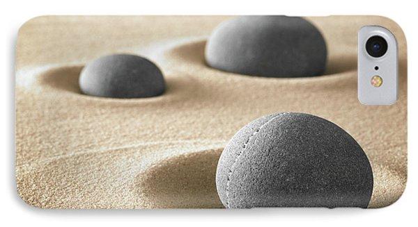 IPhone Case featuring the photograph Zen Garden Meditation Stones by Dirk Ercken