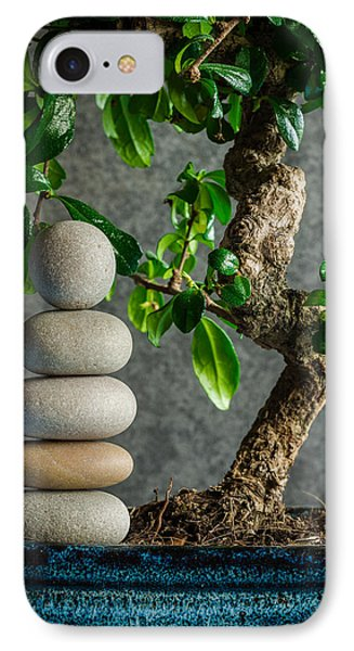 Zen Stones And Bonsai Tree II IPhone Case by Marco Oliveira