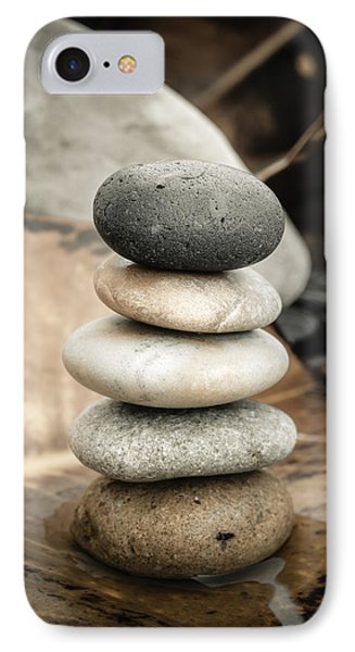 Zen Stones Iv IPhone Case by Marco Oliveira