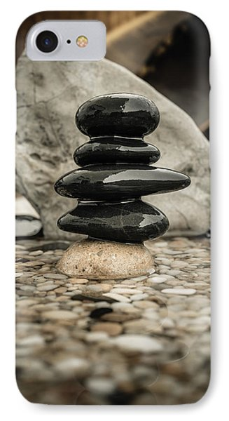 Zen Stones V IPhone Case by Marco Oliveira
