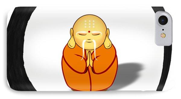 Zen Symbol With Buddha IPhone Case