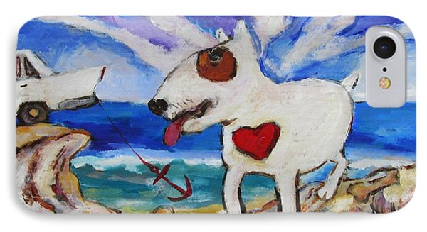 Zephyr Dog Goes To The Beach IPhone Case by Dianne  Connolly