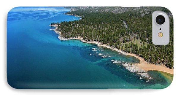IPhone Case featuring the photograph Zephyr Cove To Cave Rock Aerial by Brad Scott